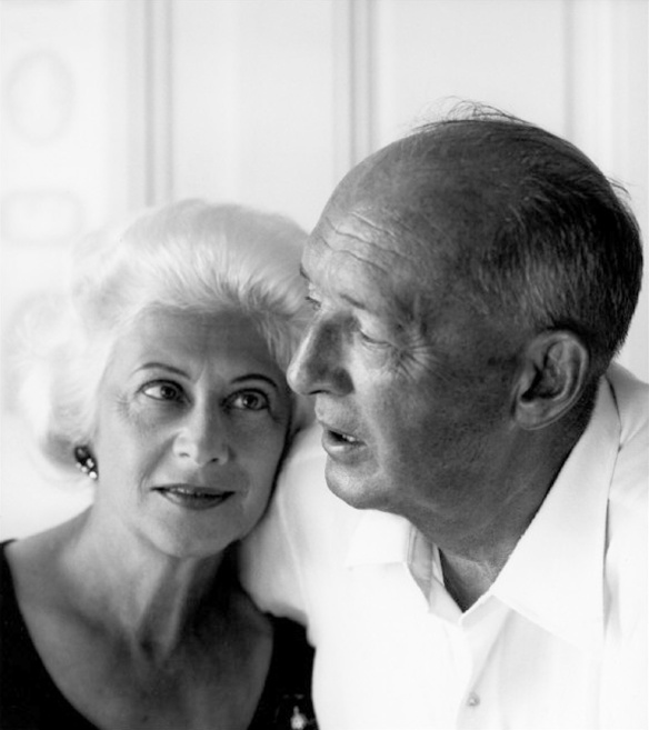 Vera and Vladimir Nabokov, 1968 (photographer: Philippe Halsman) via: http://www.brainpickings.org/2014/12/03/letters-to-vera-vladimir-nabokov/